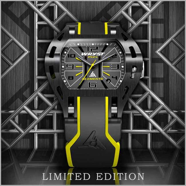 Black and yellow cool sports watch