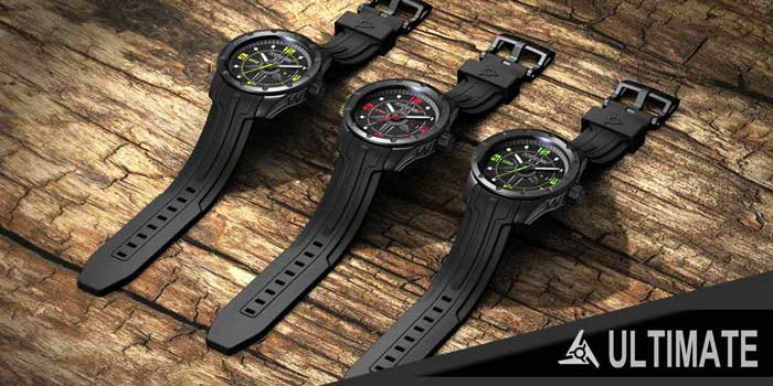 Black tough sport watch Wryst Ultimate