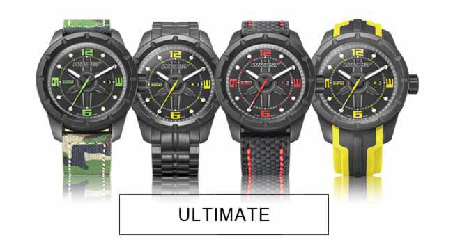 Swiss Sports Watches With Two Silicone Bracelets