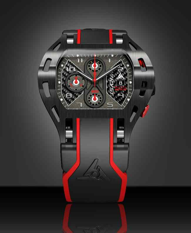Wryst carbon fiber black swiss watch 2017