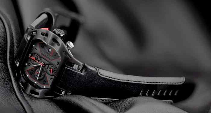swiss black sport watch formula1 motorsports wryst limited edition
