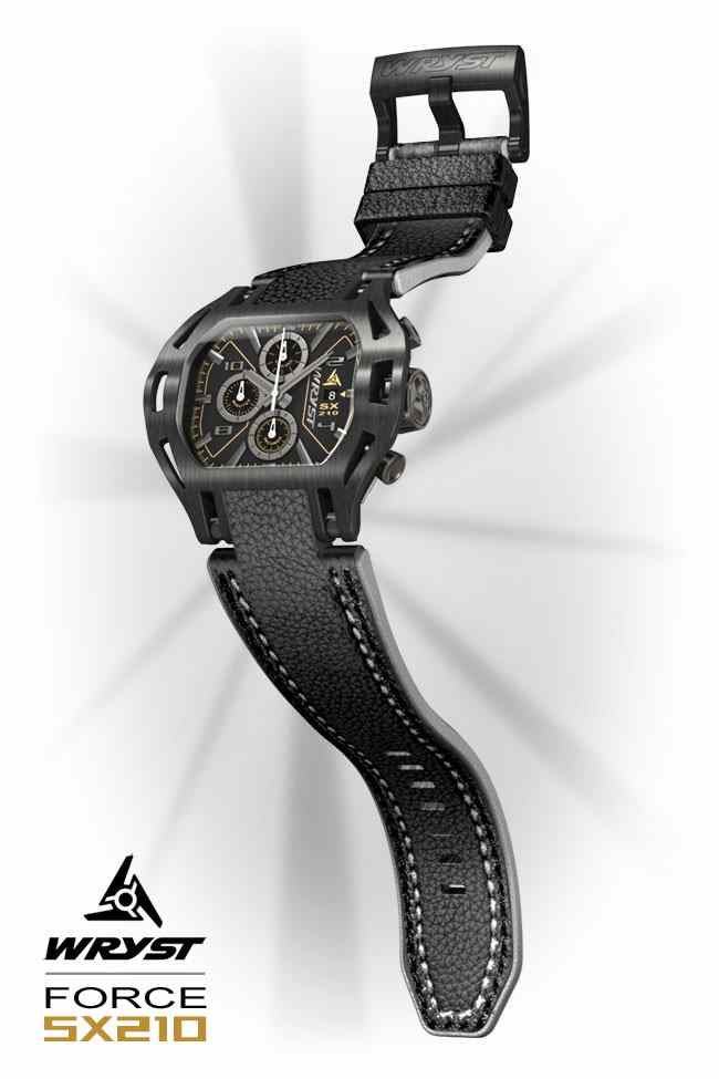 Black Leather Watch Wryst