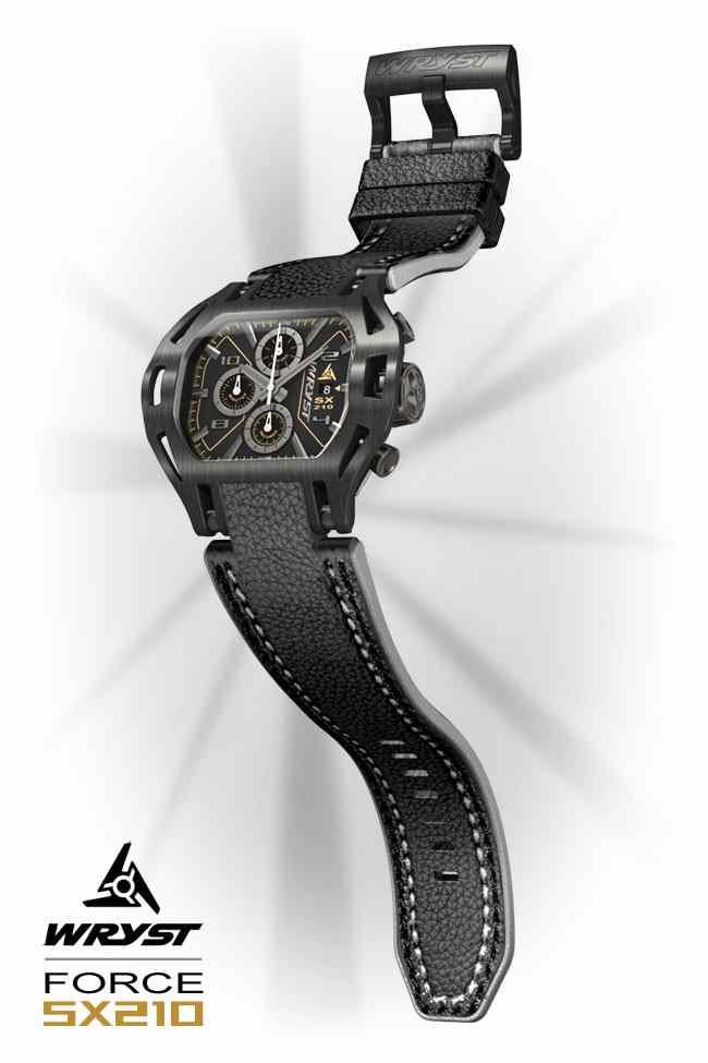 Schwarzes Leder Uhren armband