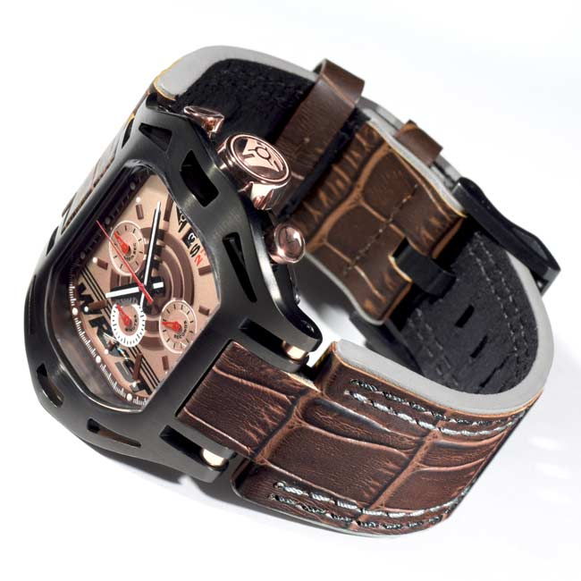Black Swiss Men Chronograph Watch