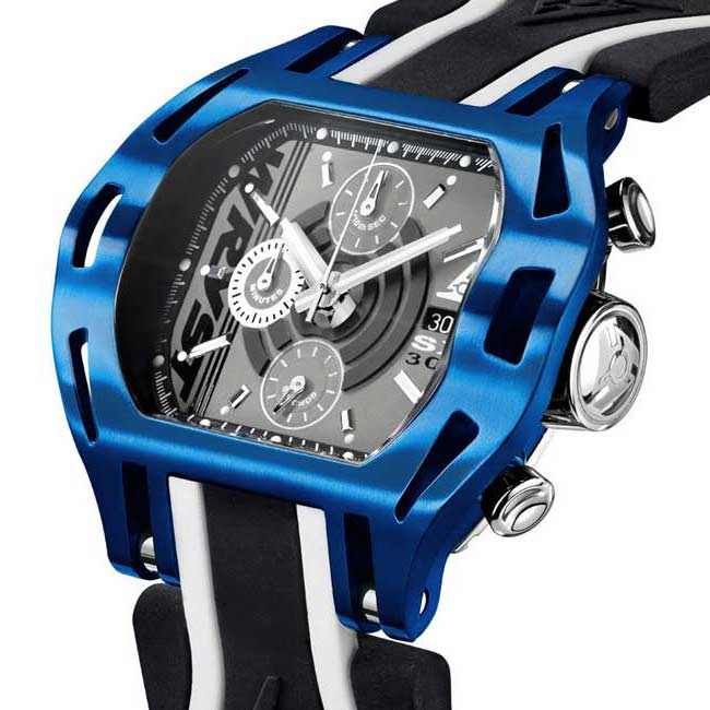 Blue Case Chronograph Watch