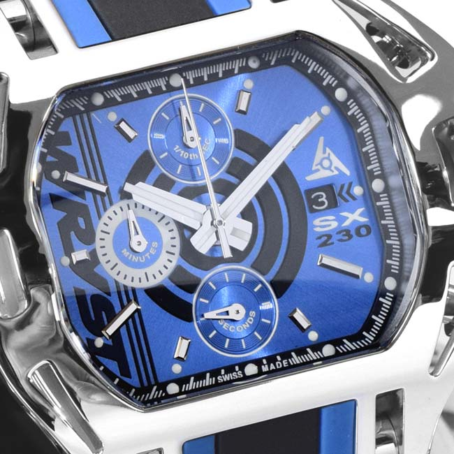 Men's Blue Dial Watches Wryst