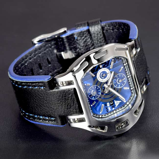 Luxury Swiss Mens Blue Colored Dial Watch