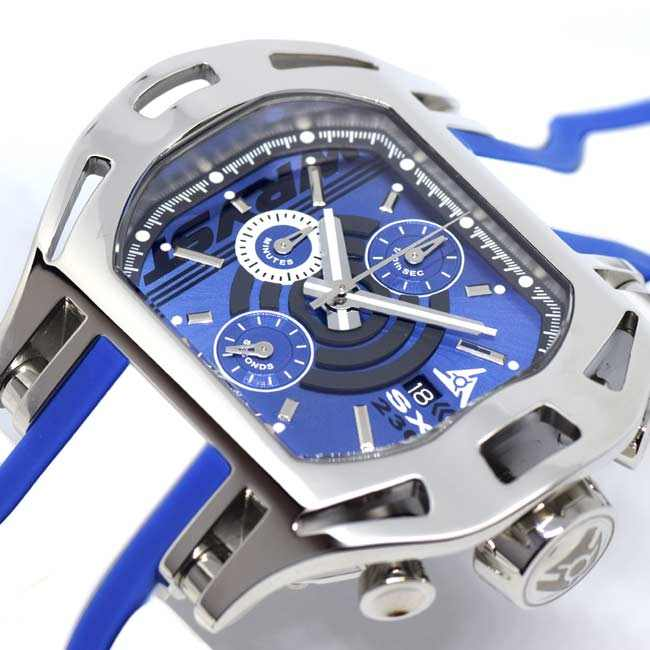 Mens Blue Face Wryst Watches