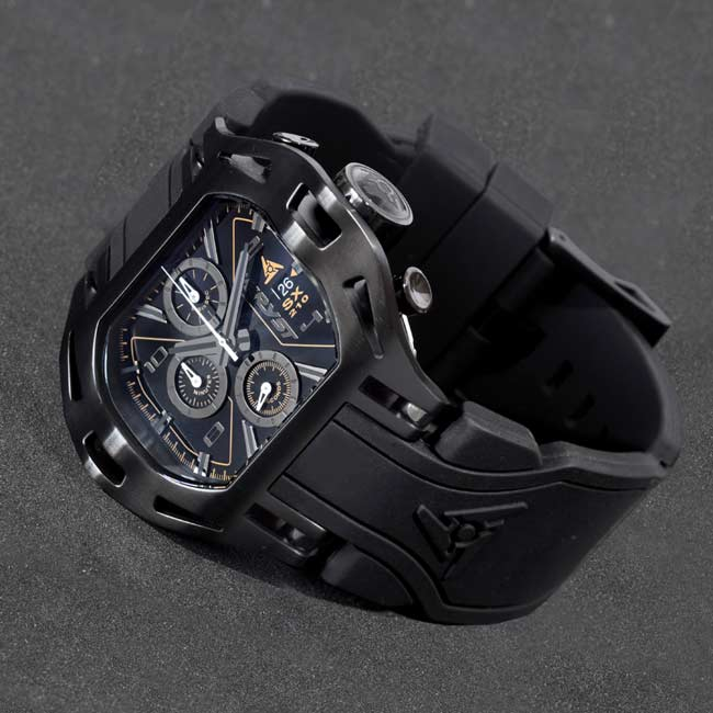 Black Swiss Chronograph Watch Wryst Force