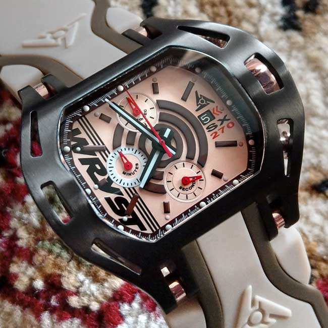 SX270 Black Rose Gold Watch Wryst