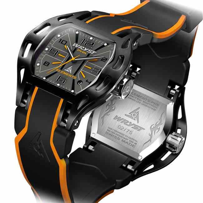 Reloj suizo de lujo negro Wryst Elements PH5