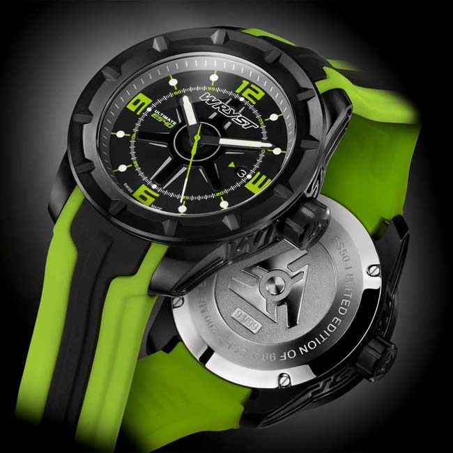 Black and Green Watch