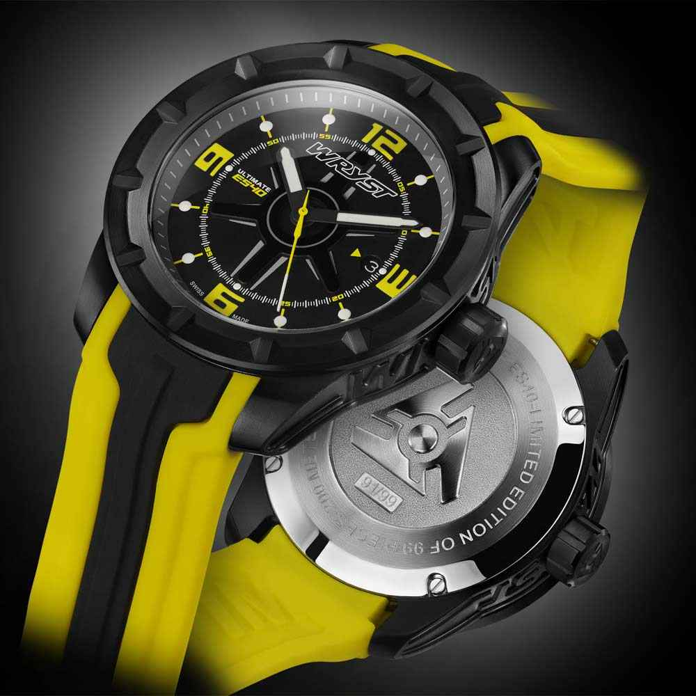 Black and Yellow Swiss Sport Watch Wryst Ultimate ES40