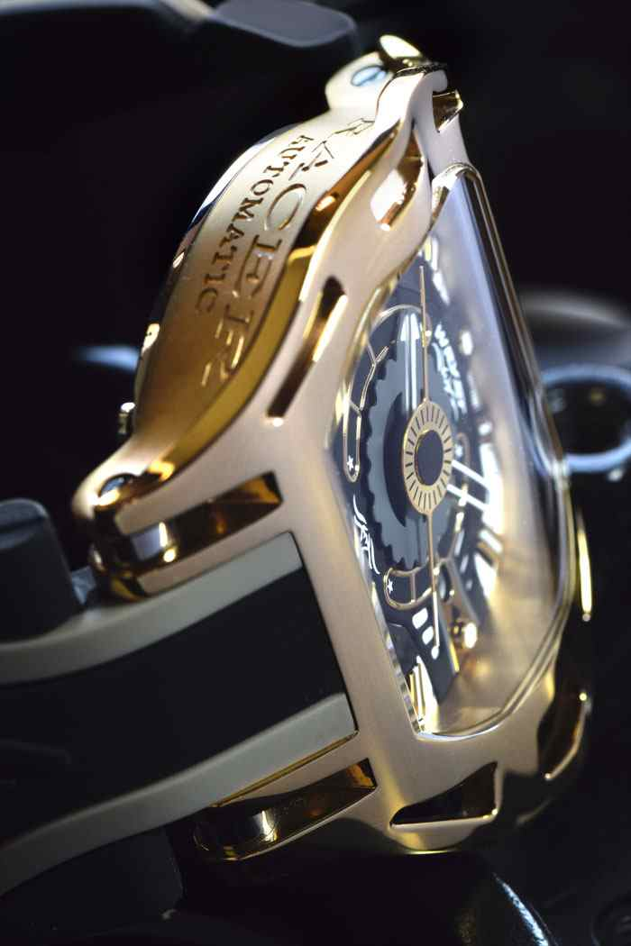 Automatic Gold Unusual Sports Watch Wryst Racer