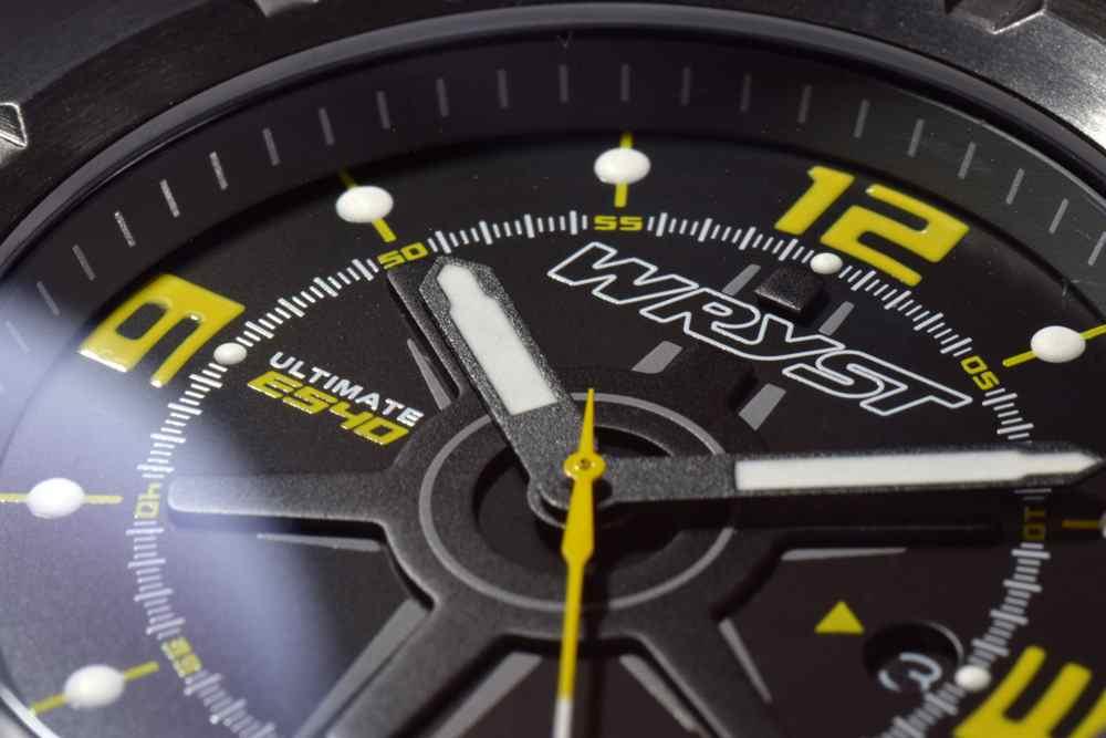 amarillo y negro-wryst-deportes-reloj de marcación