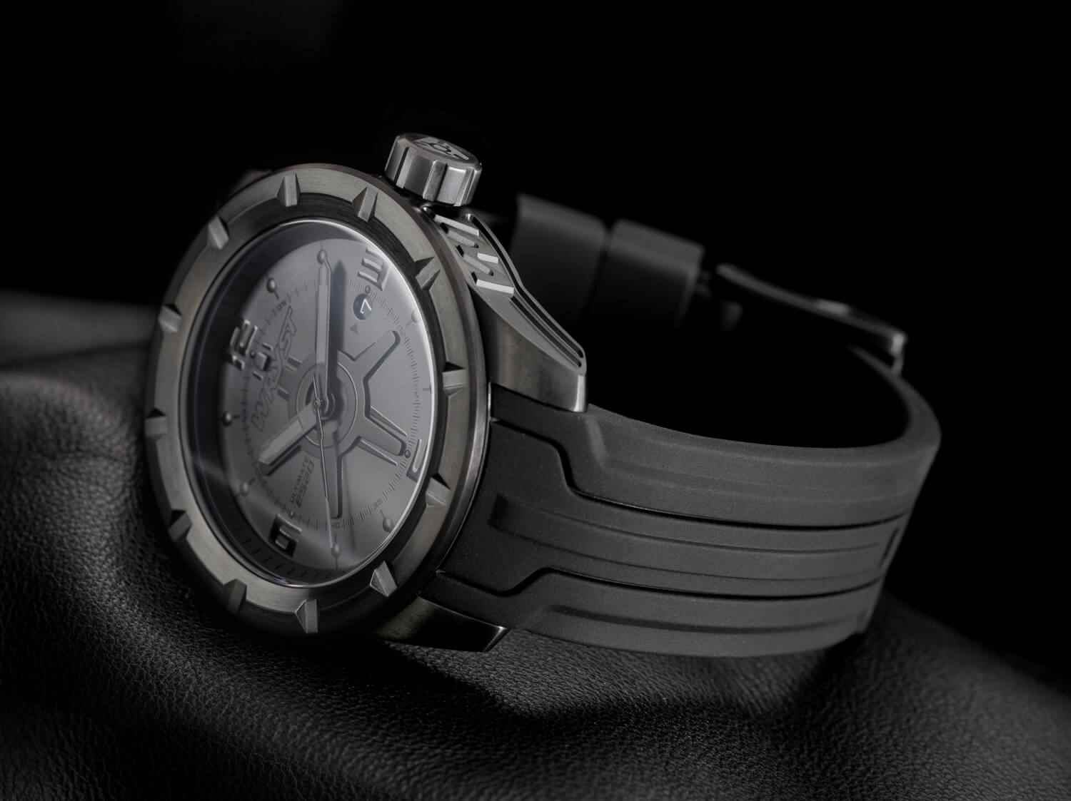 All black swiss sport watch