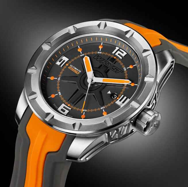 best gift for men Swiss sport watch orange