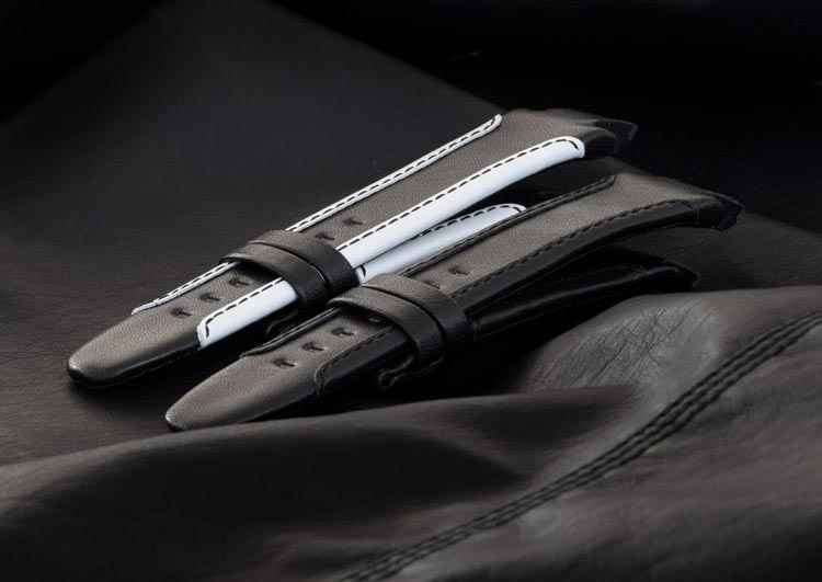 Black Alcantara Leather Watch Bracelet
