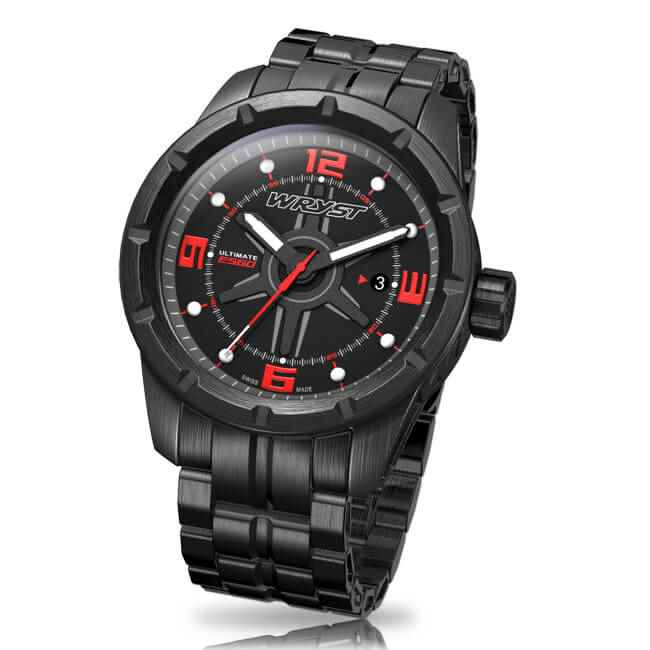 black dlc swiss quartz watch