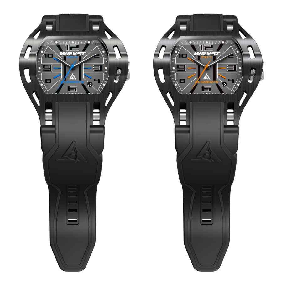 Black sports watch for extreme sports