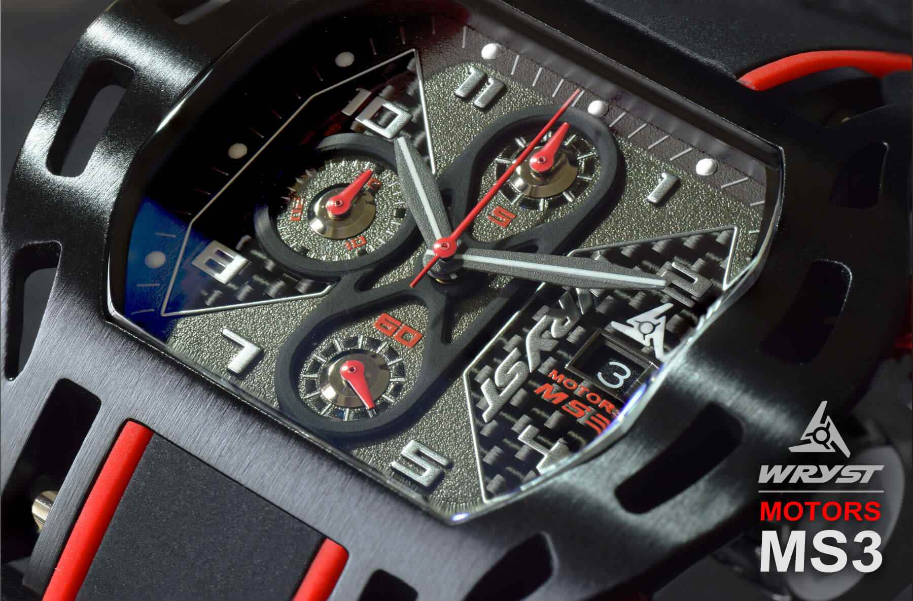 Swiss Sport Watch Carbon Fiber