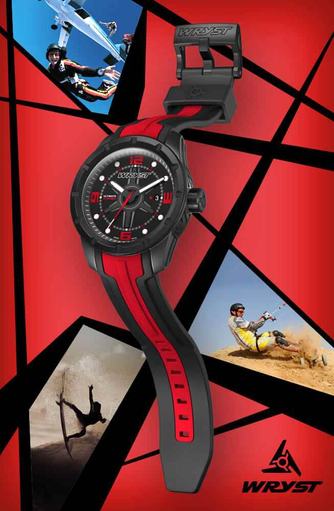 Best gift for Men Red Swiss Sport watch