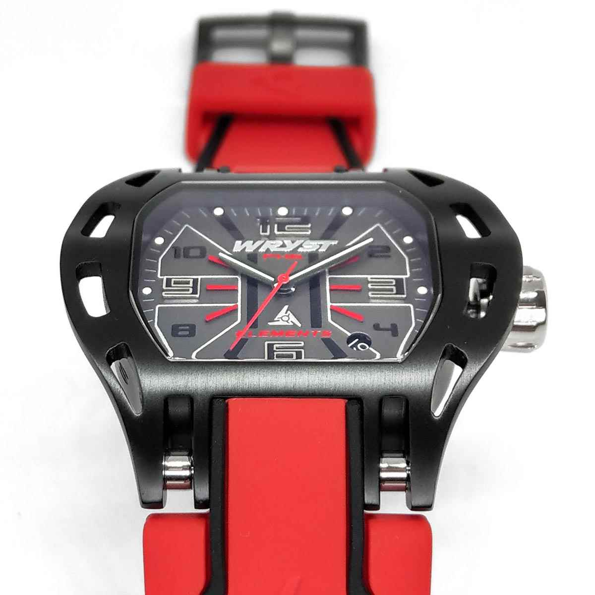 Wryst black sports watch PH6 red