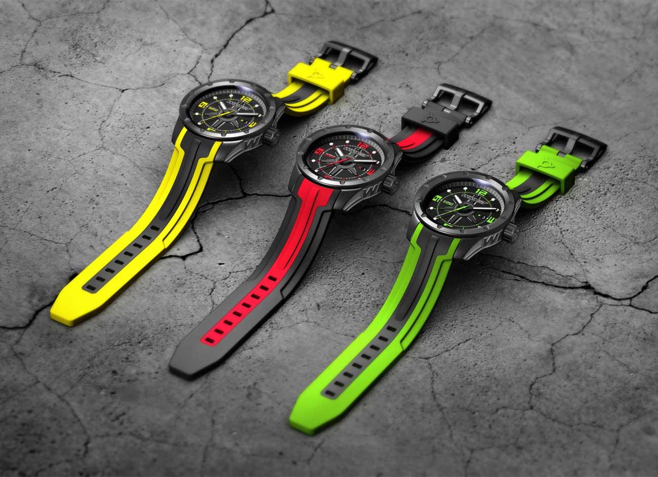 Relojes suizo negro para hombres