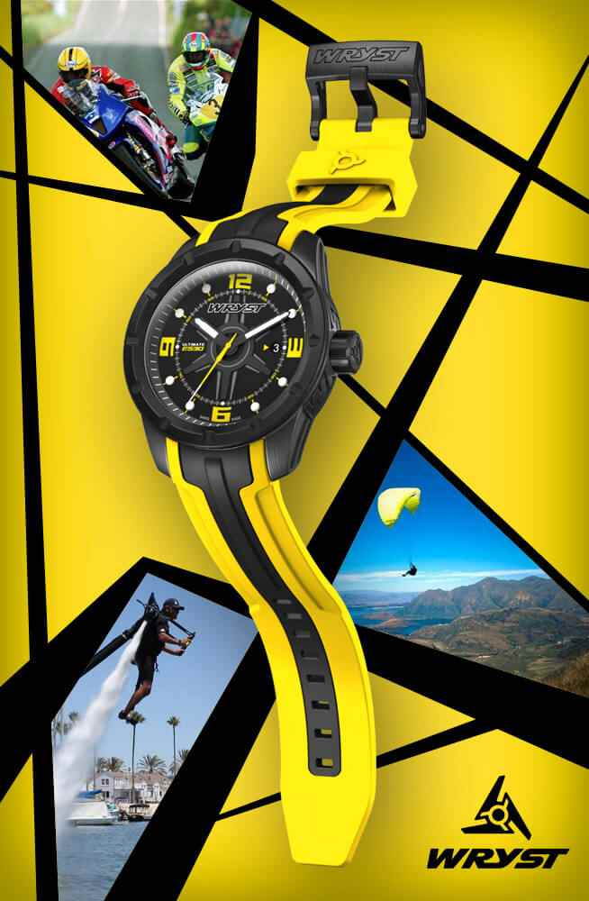 Best gift for men - Yellow Swiss Sport Watch