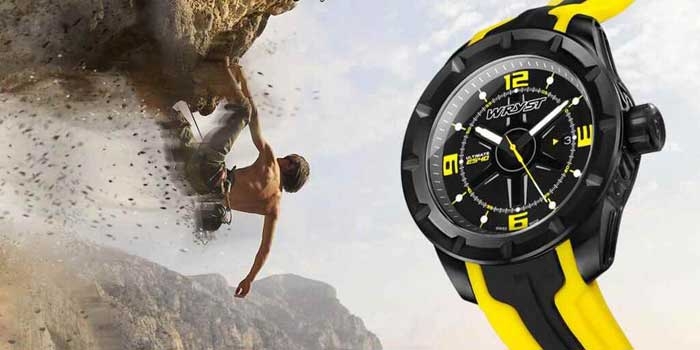 yellow swiss quartz watches