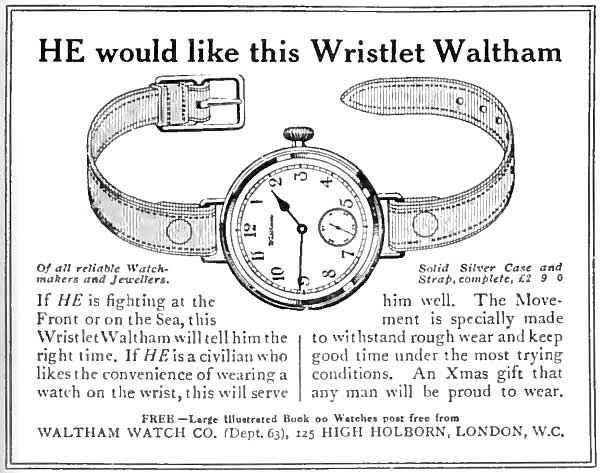 Erste Armbanduhr 1917