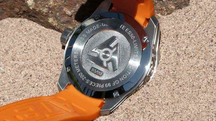 limited edition swiss orange watch