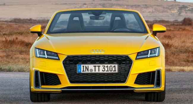 Front view Audi TT 2019 yellow car