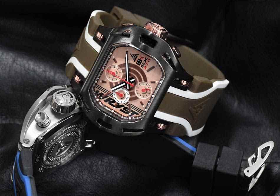 Choisissez votre montre de luxe Or Rose et Noire