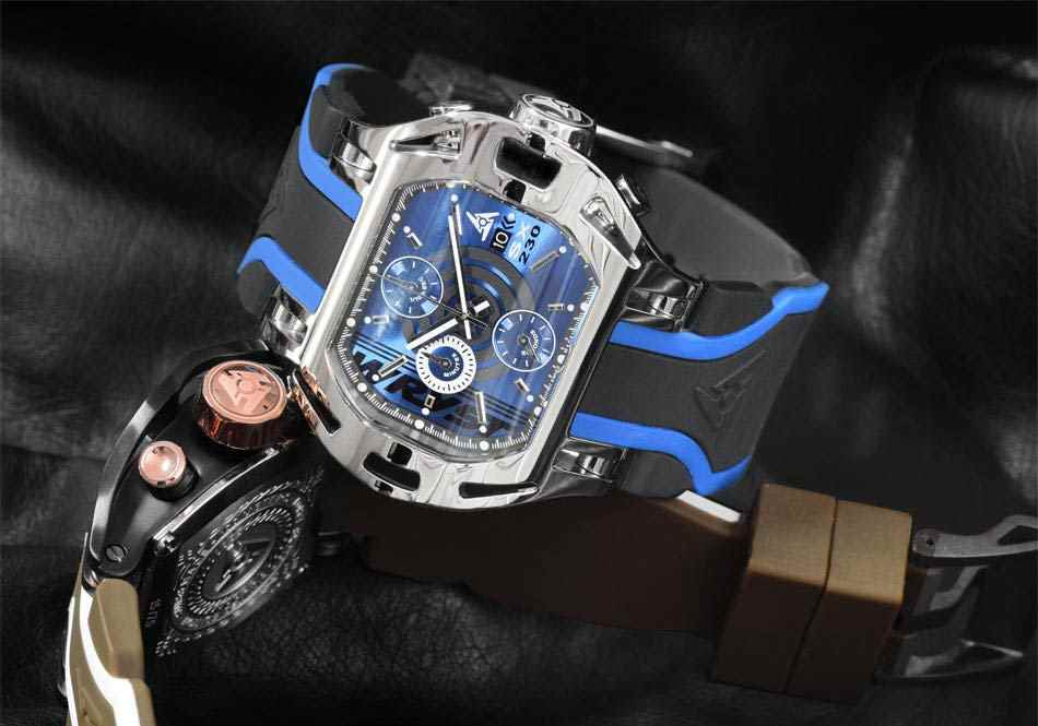 Choose your watch with blue dial