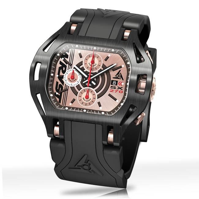 Reloj suizo negro de lujo Wryst Force SX270