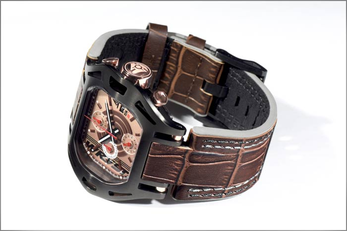 Wryst Swiss Chronograph Leather Bracelet