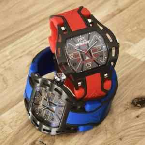 Striking Sports Elements Watch With Colorful Bracelet