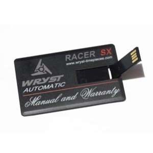 USB card for Wryst watches manual instruction and warranty registration