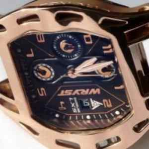 Closer look at the Rose Gold Luxury Sport Watch Wryst Shoreline LX5