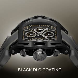Why black watches do not resist wear & tear marks and scratches?