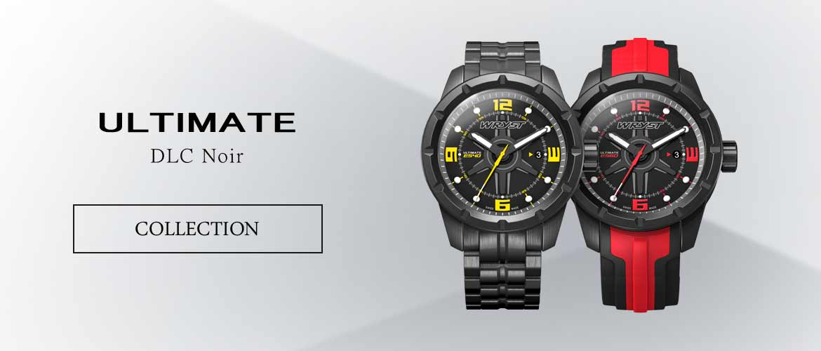 Luxury Quartz Watches with Black DLC